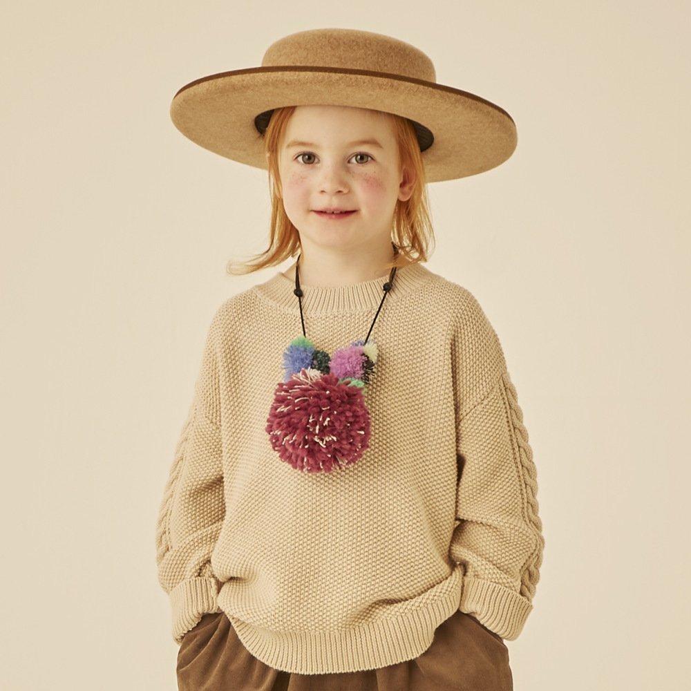 moss stitch sweater ivory img5