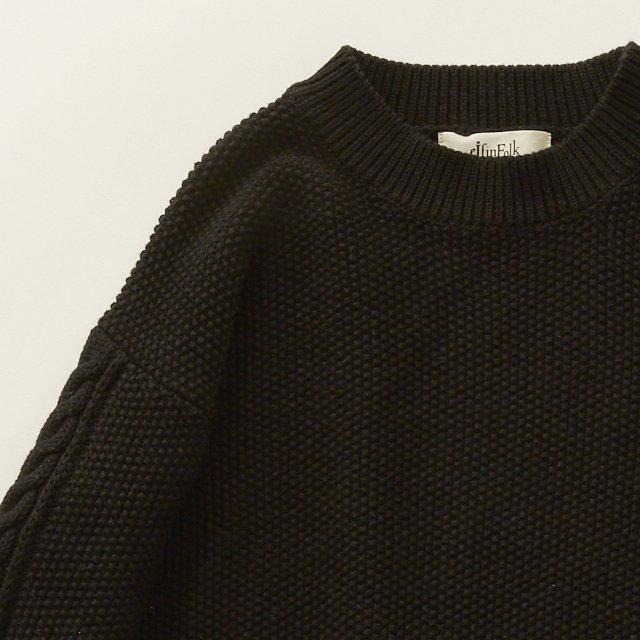 【30%OFF】moss stitch sweater black img1