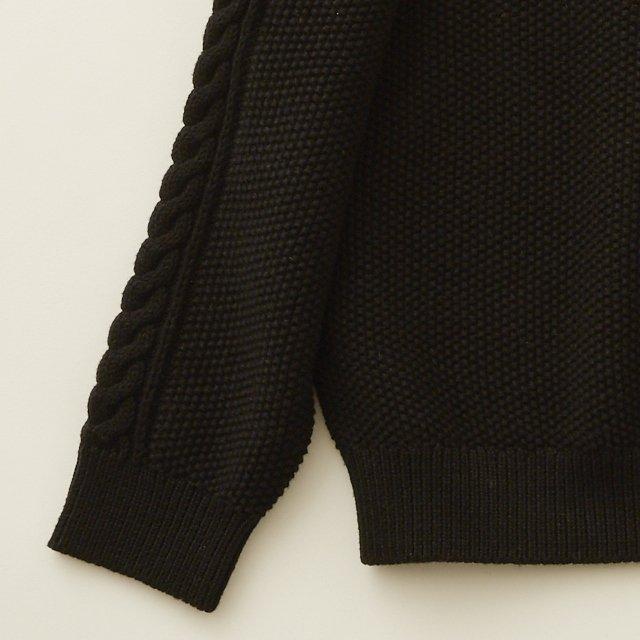 【30%OFF】moss stitch sweater black img2