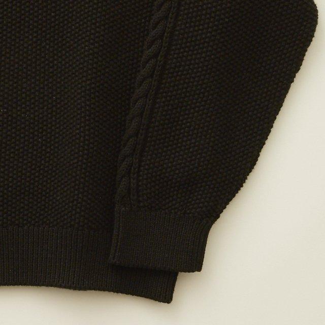【30%OFF】moss stitch sweater black img3