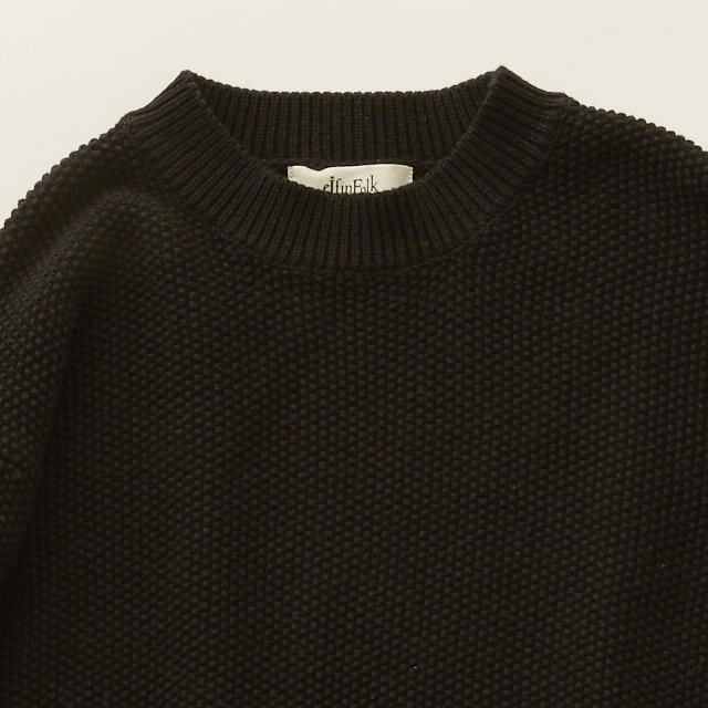 【30%OFF】moss stitch sweater black img4