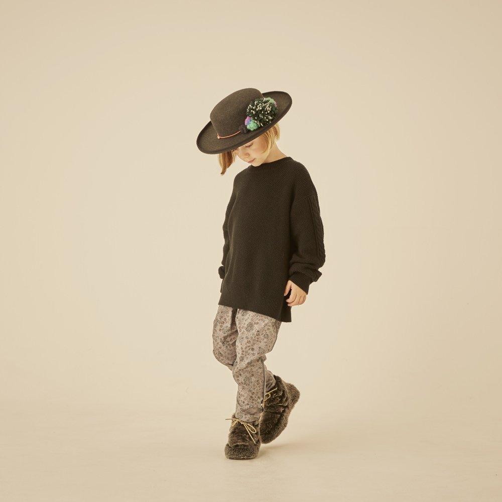 【30%OFF】moss stitch sweater black img5