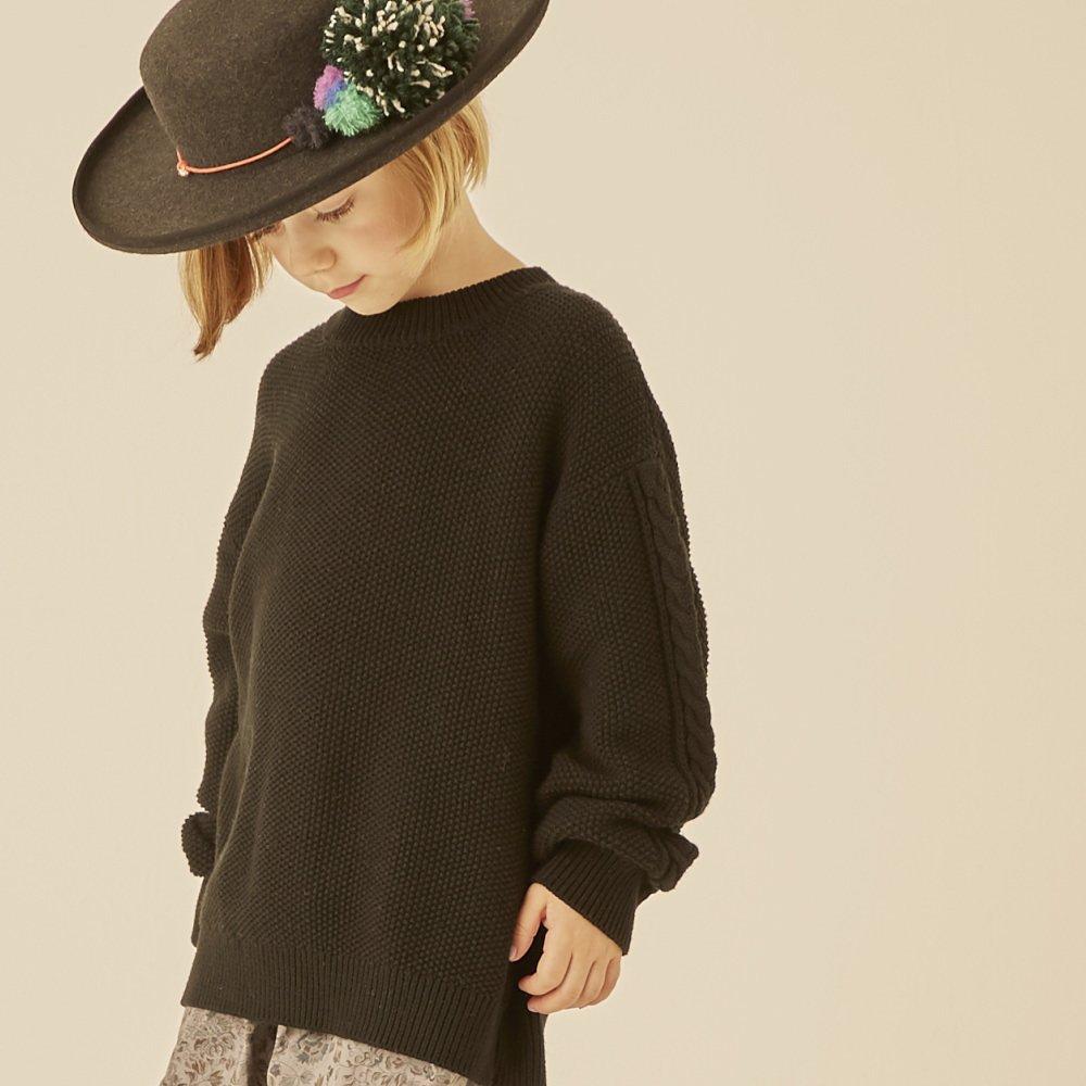 【30%OFF】moss stitch sweater black img6