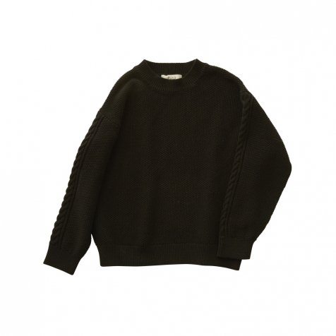 moss stitch sweater black
