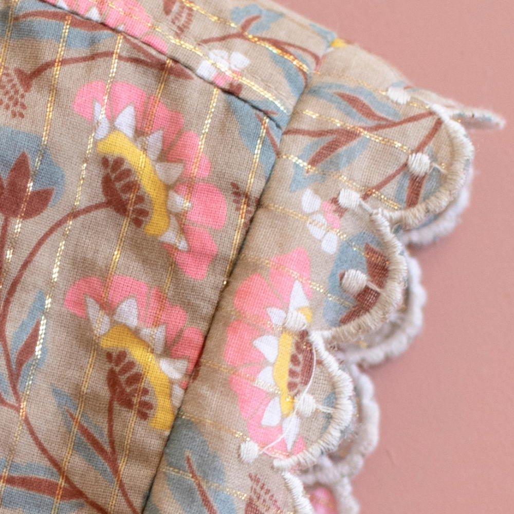 【30%OFF】Beanie Odia Khaki Folk Flowers img3