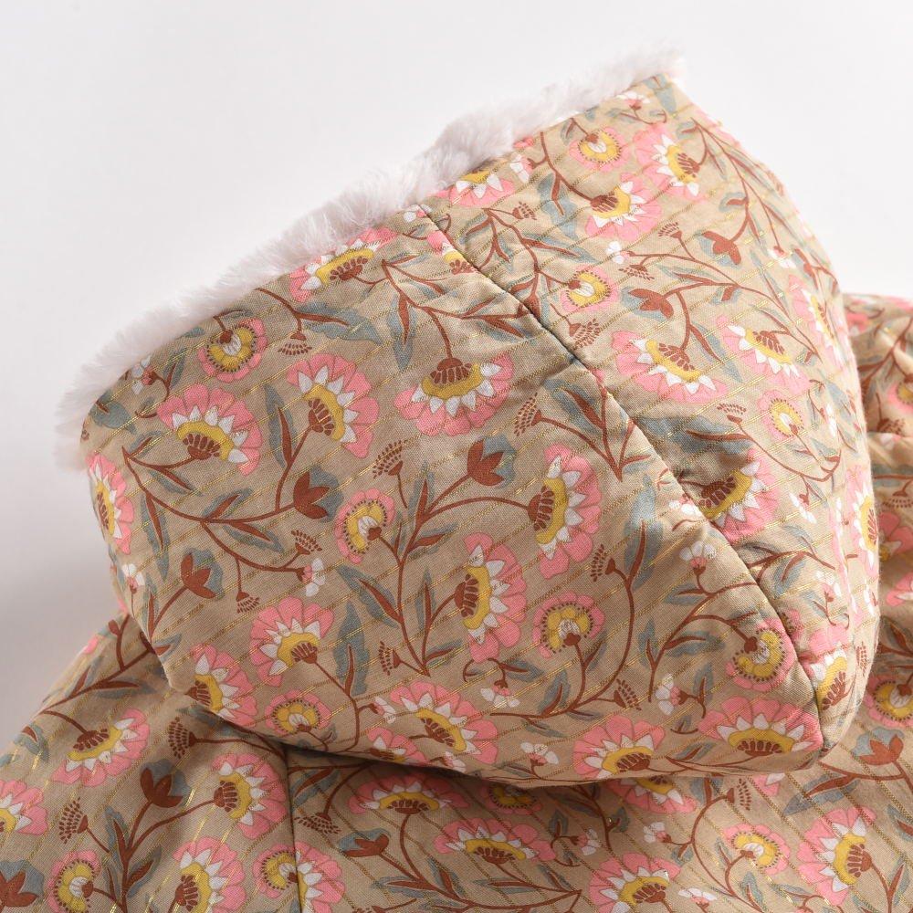 【20%OFF】Coat Bacani Khaki Folk Flowers img3