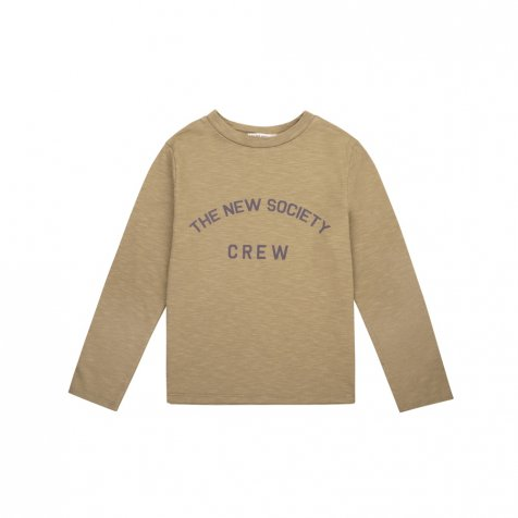THE NEW SOCIETY CREW TEE Kahki