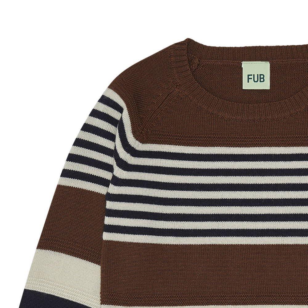 【20%OFF】1420 AW Purlstriped blouse UMBER/ECRU/DARK NAVY img1