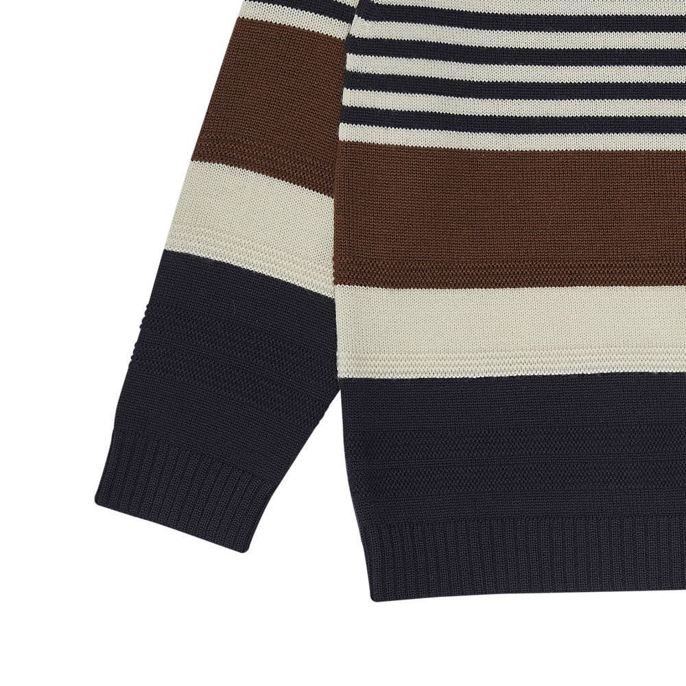 【20%OFF】1420 AW Purlstriped blouse UMBER/ECRU/DARK NAVY img2