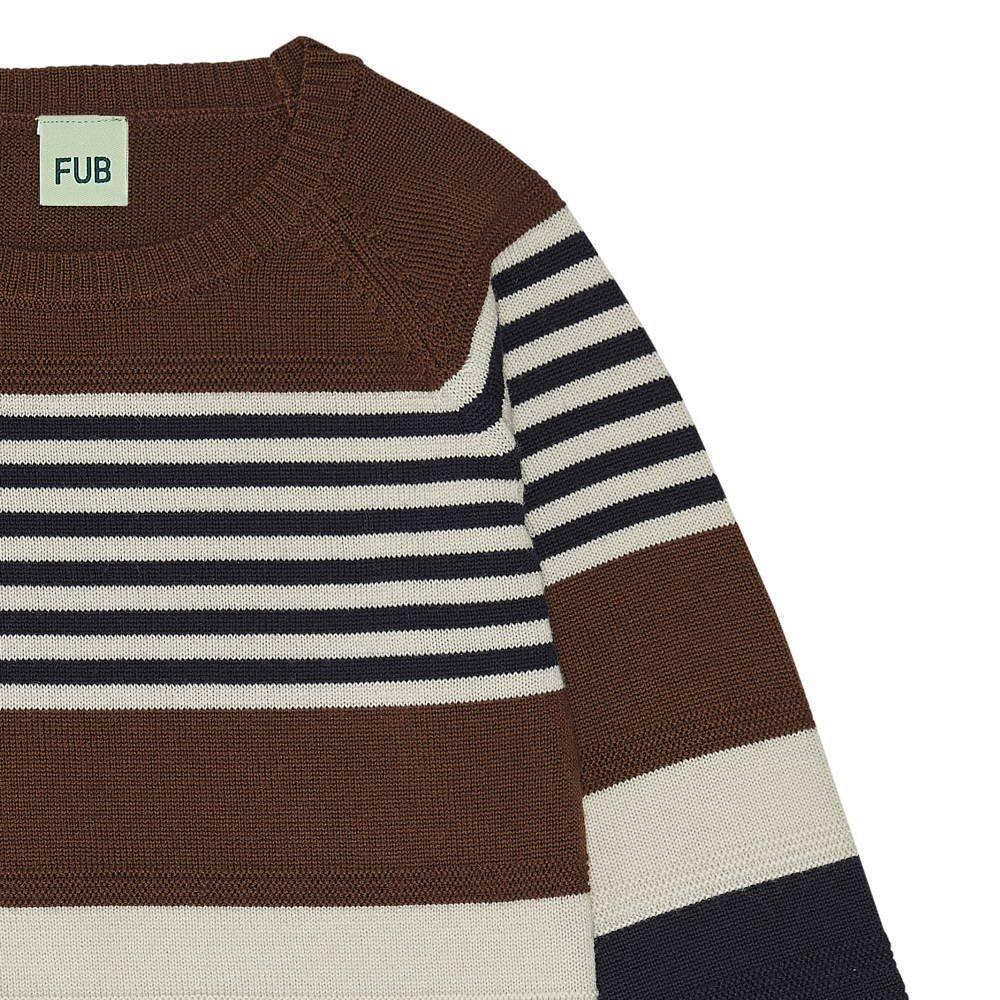 【20%OFF】1420 AW Purlstriped blouse UMBER/ECRU/DARK NAVY img3