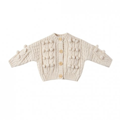 bobble cardigan natural