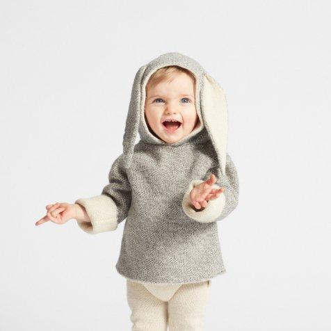 bunny hoodie grey mulinex
