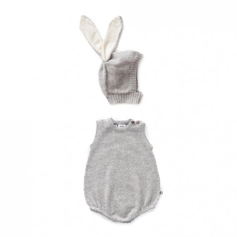 【20%OFF】bunny romper set grey mulinex