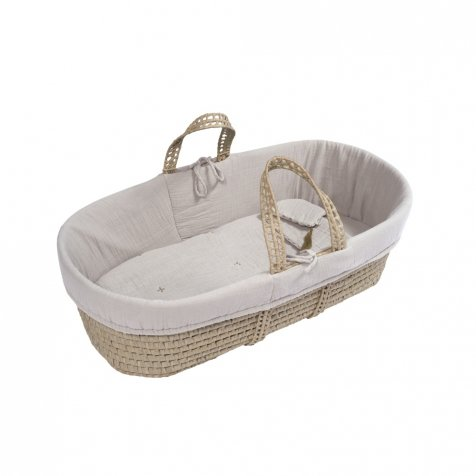moses basket + mattress + bed linen Powder
