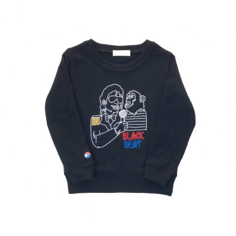 BLACK BEAT sweat crew black
