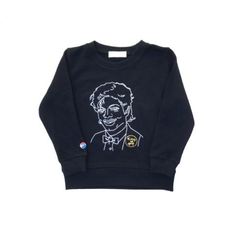 KING OF POP sweat crew black