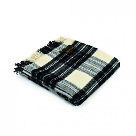 Traditional Tartan Shawl Grey Dress Stewart