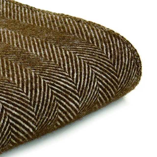 【20%OFF】Pure New Wool Shawl Fishbone Chocolate img3