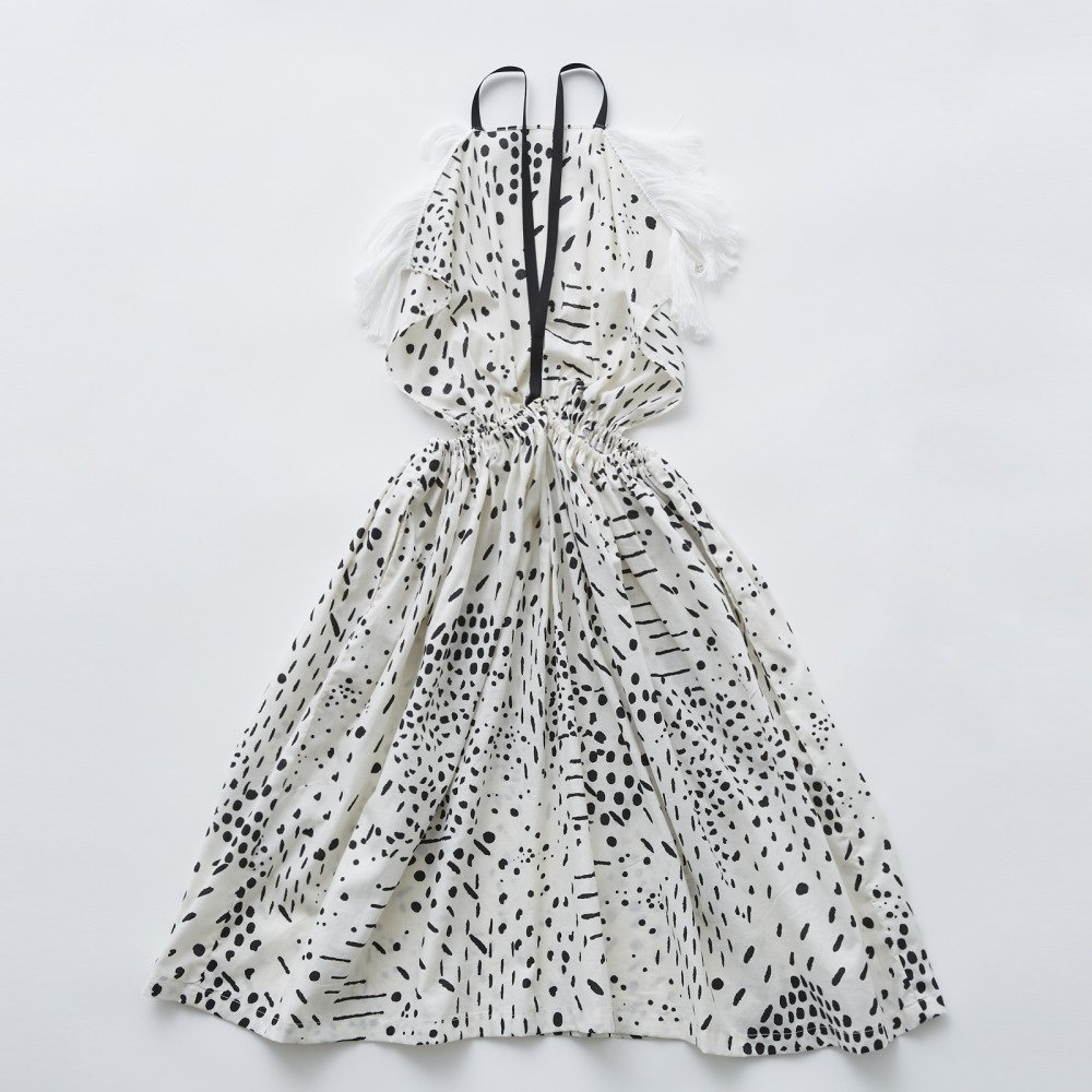 QiLin pinafore dress white img4