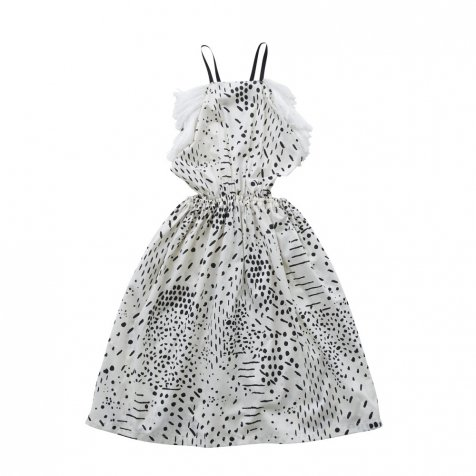QiLin pinafore dress white