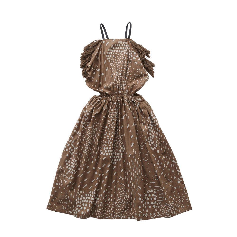 QiLin pinafore dress brown img