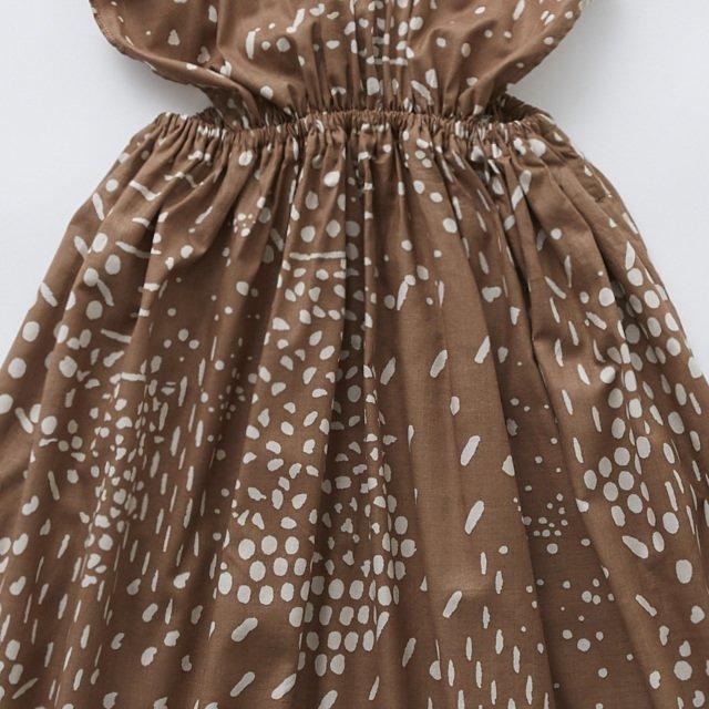 QiLin pinafore dress brown img2