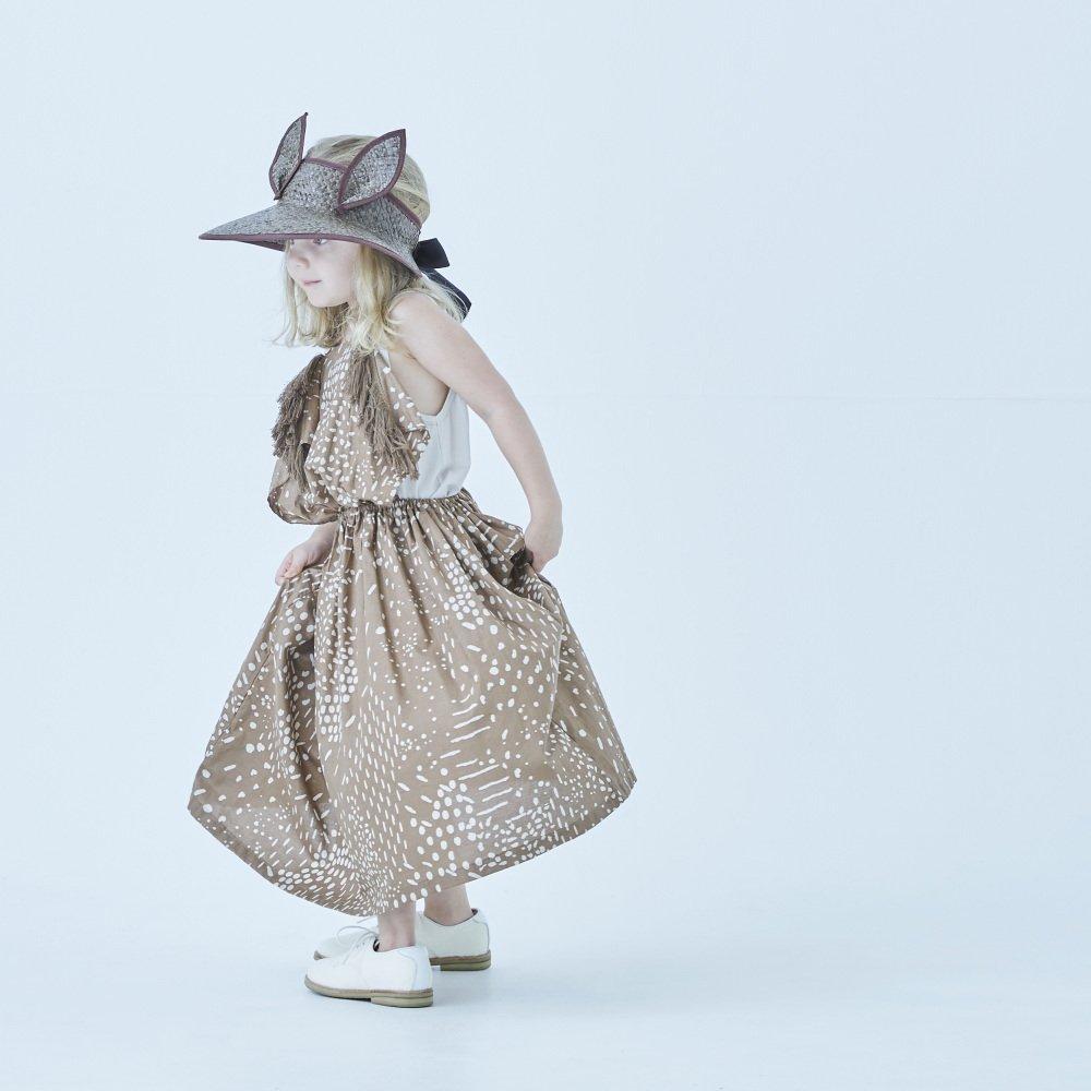 QiLin pinafore dress brown img4