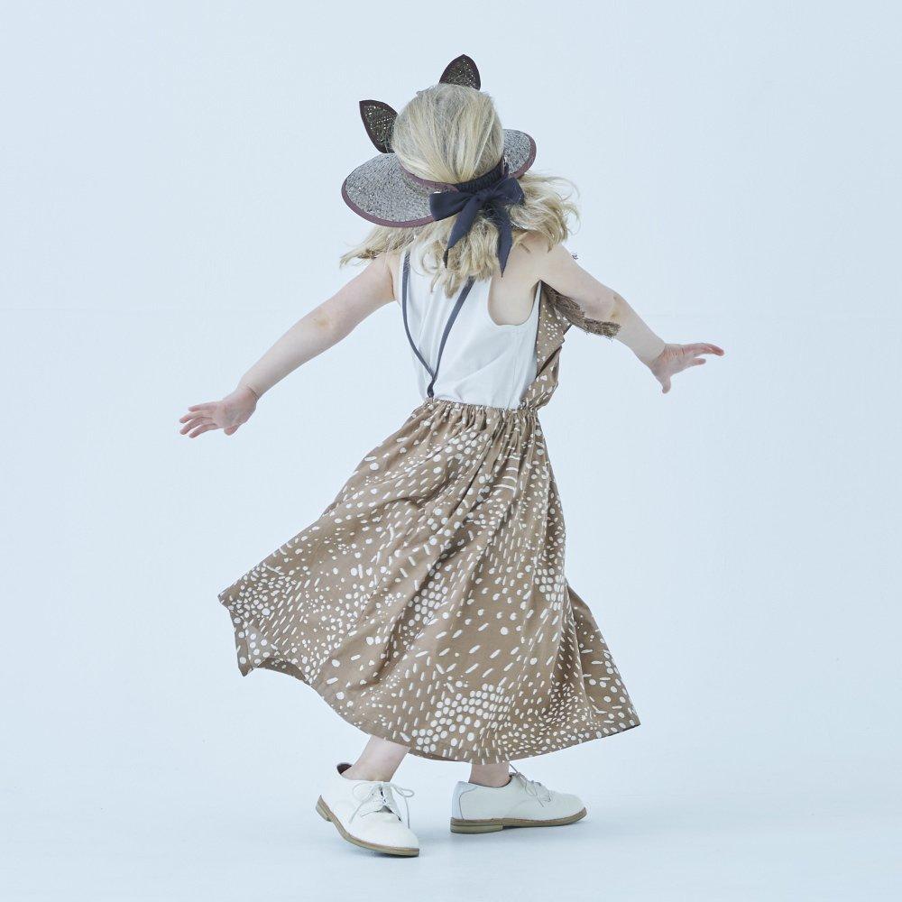 QiLin pinafore dress brown img5