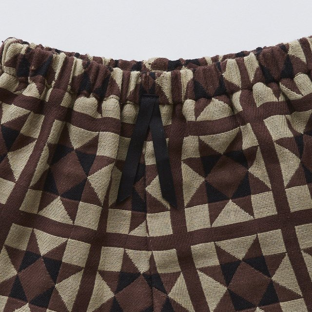 Amish quilt shorts brown img3