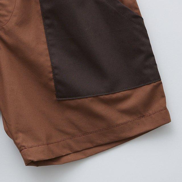 typwriter shorts brown img2