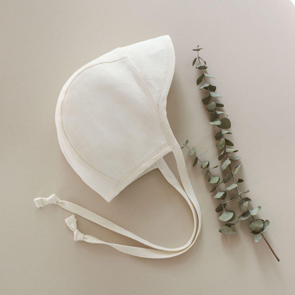 Brimmed Bonnet Ivory Linen img