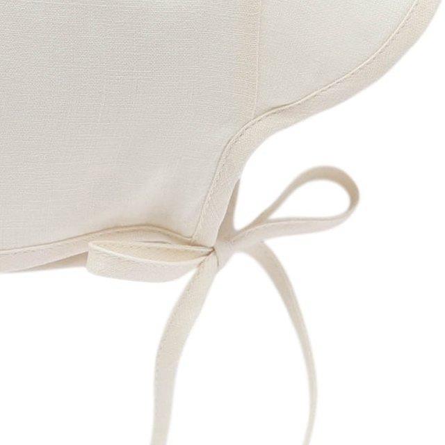 Brimmed Bonnet Ivory Linen img3