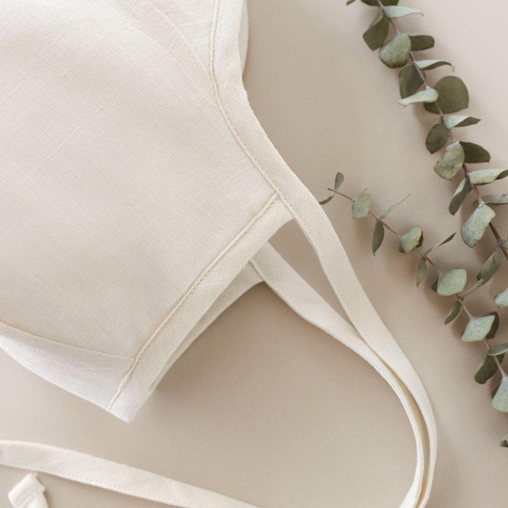 Brimmed Bonnet Ivory Linen img5