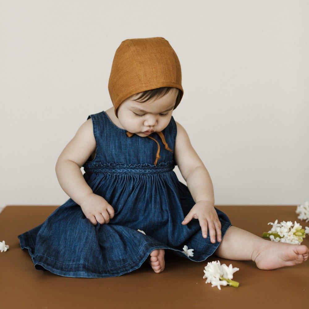 Basics Bonnet Rust Linen img3