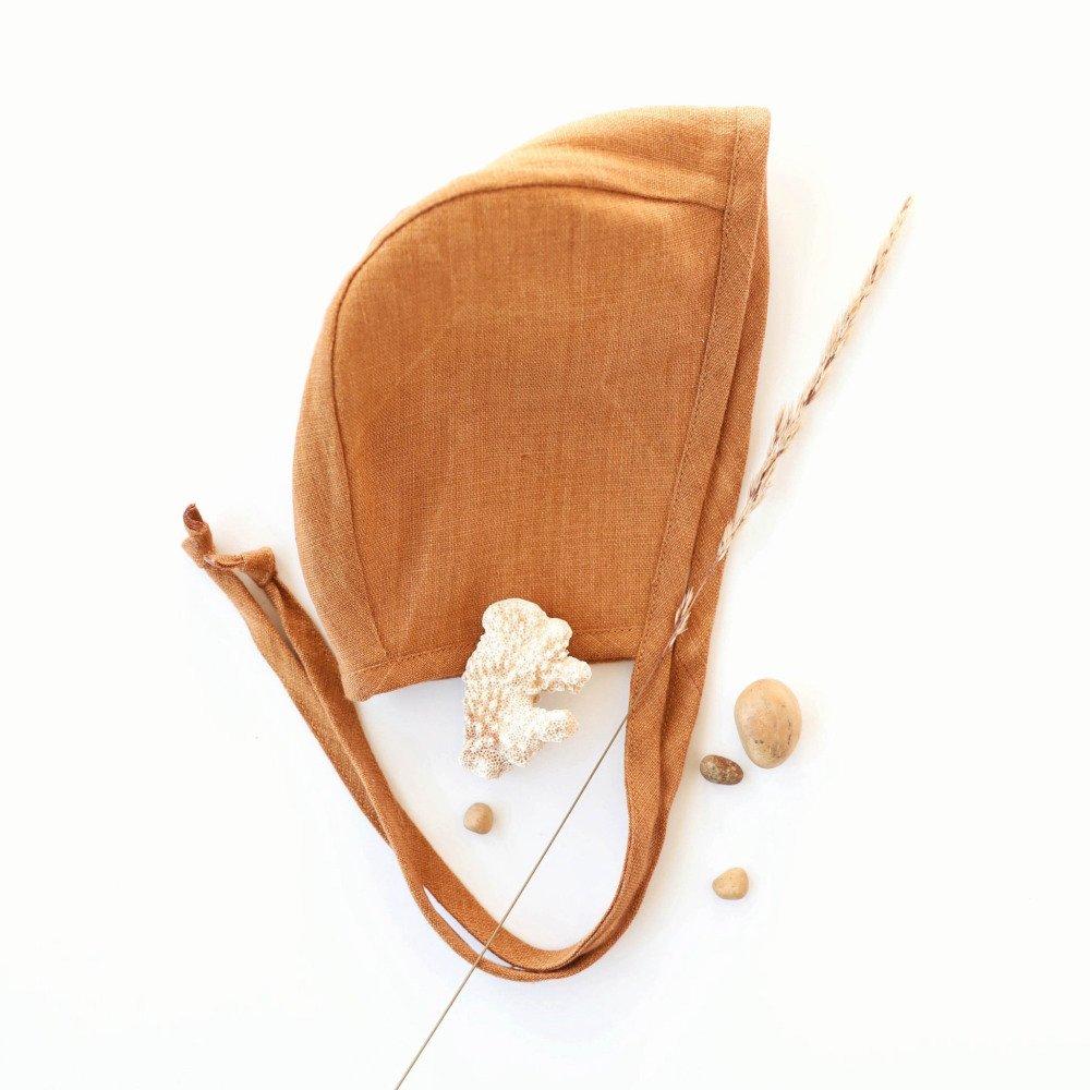 Basics Bonnet Rust Linen img4