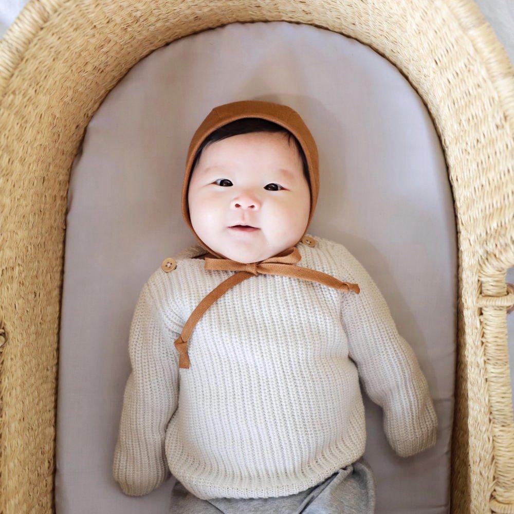Basics Bonnet Rust Linen img5