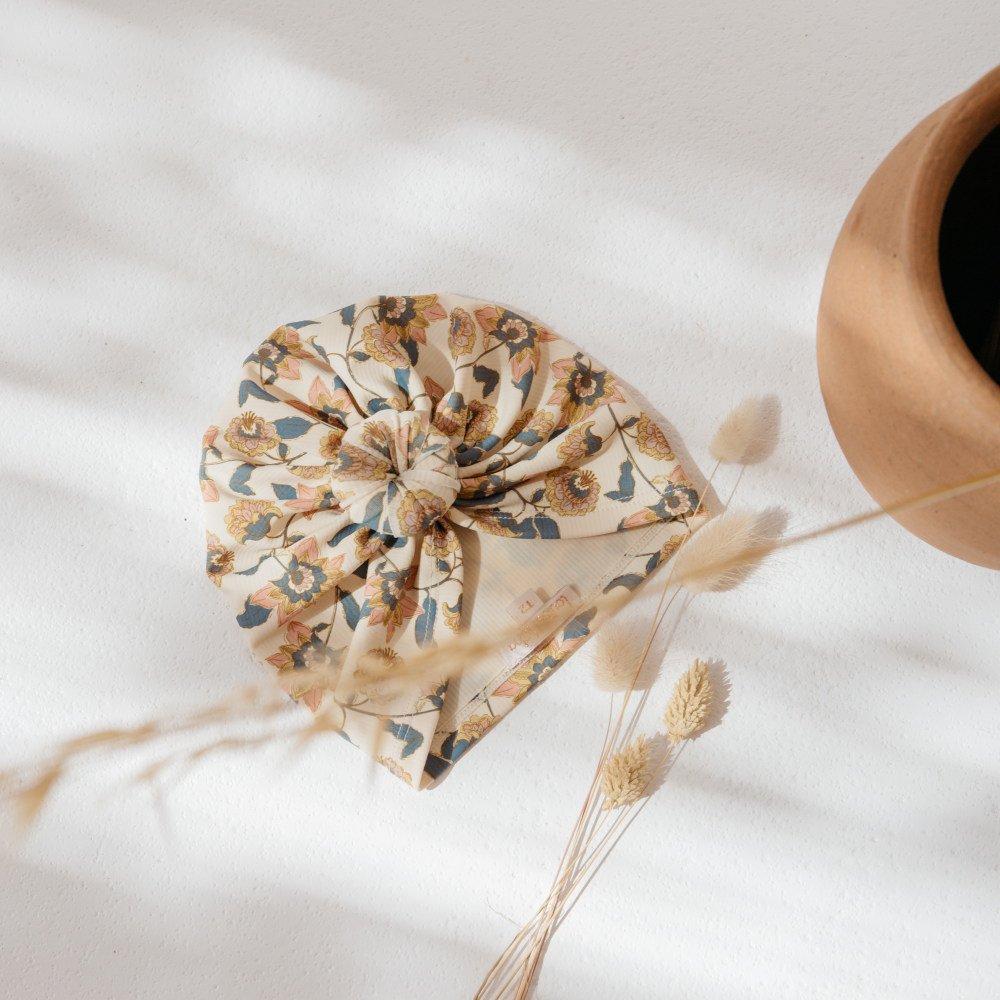 Bathing Turban Sylvania Cream Flowers img