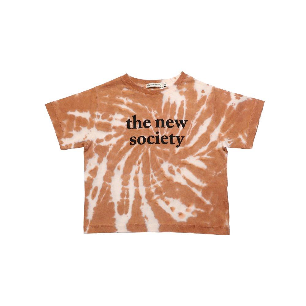 THE NEW SOCIETY TEE CARAMEL img1
