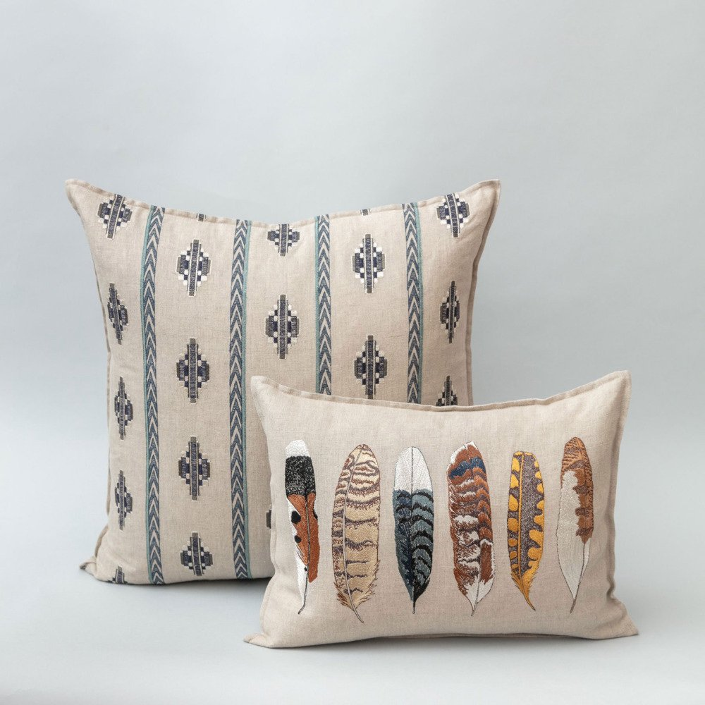 Medium Feathers Pillow (Cover Only) img1