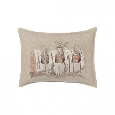 Aspen Log Bunnies Pocket Pillow (Cover Only)