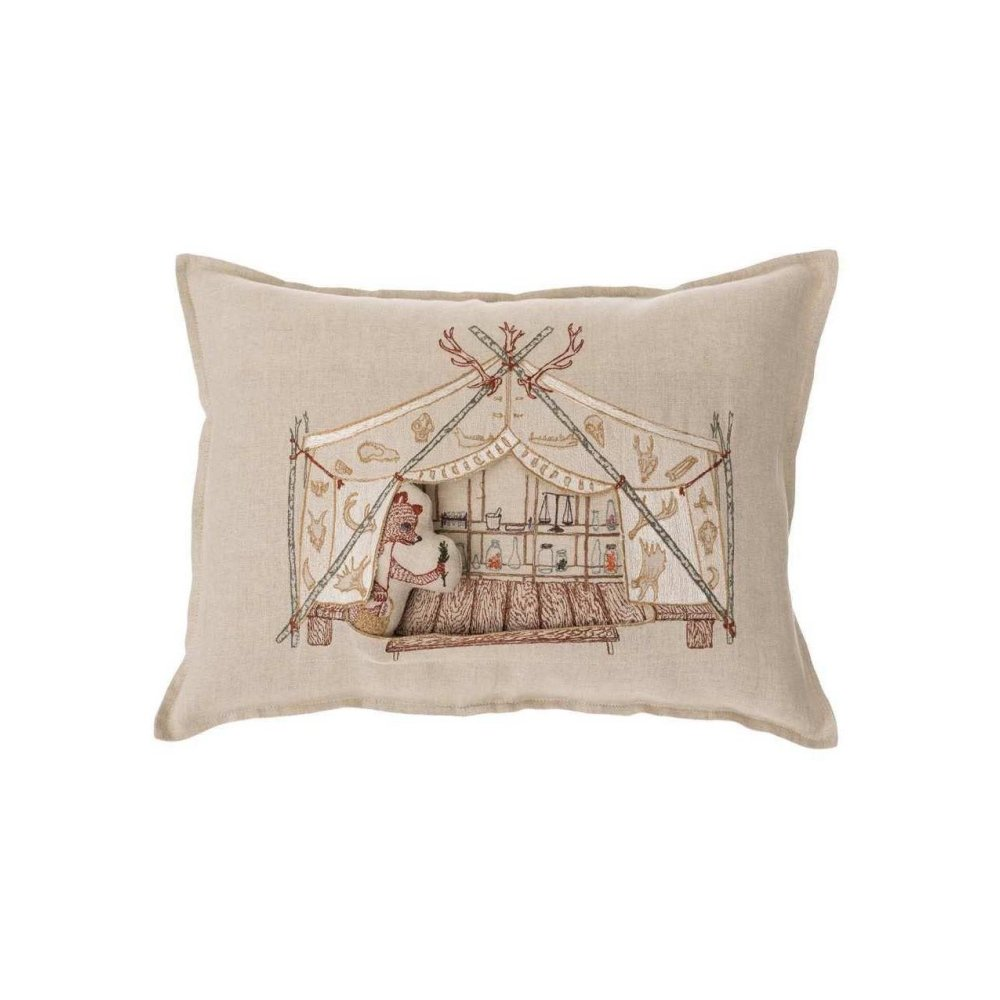 Bear Apothecary Tent Pocket Pillow (Cover Only) img