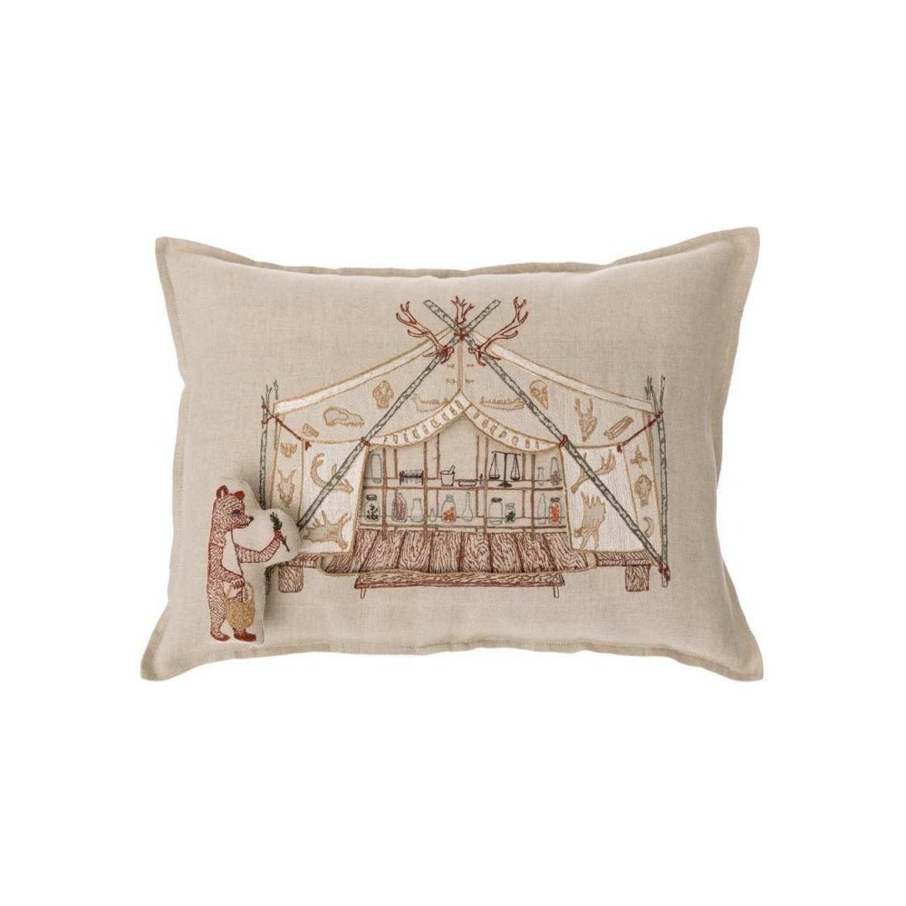 Bear Apothecary Tent Pocket Pillow (Cover Only) img1