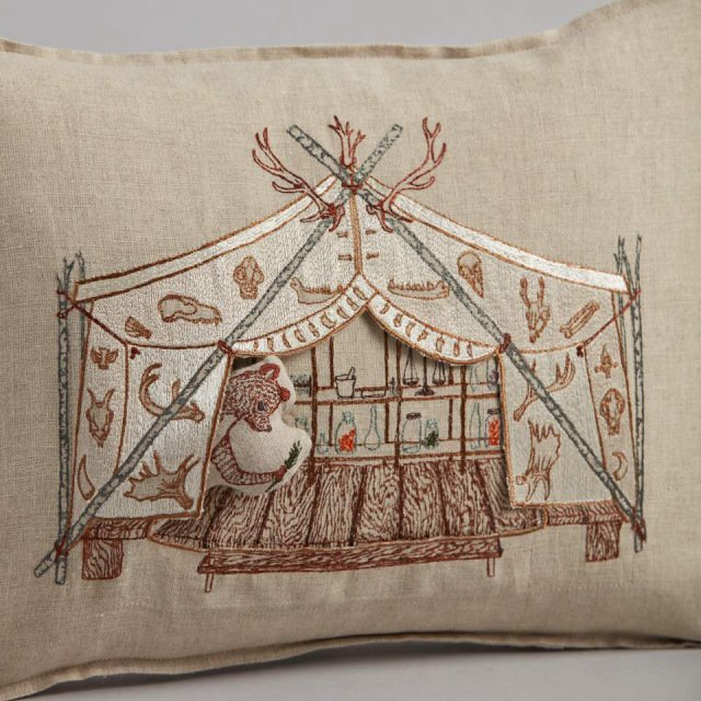 Bear Apothecary Tent Pocket Pillow (Cover Only) img2