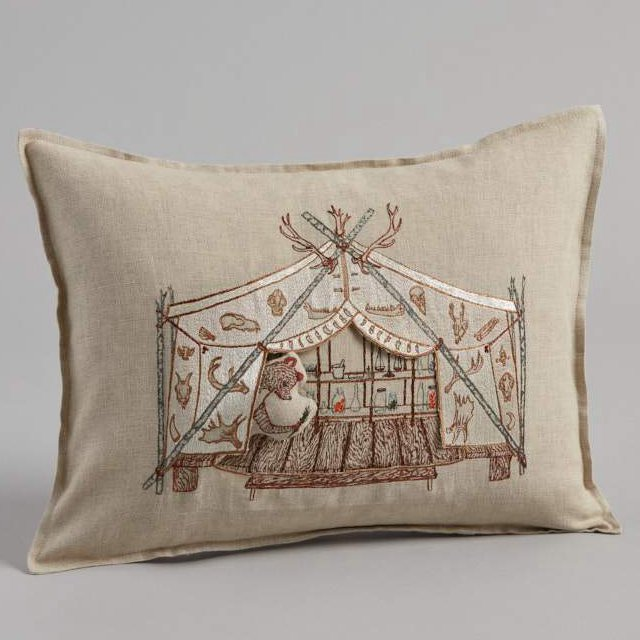 Bear Apothecary Tent Pocket Pillow (Cover Only) img3