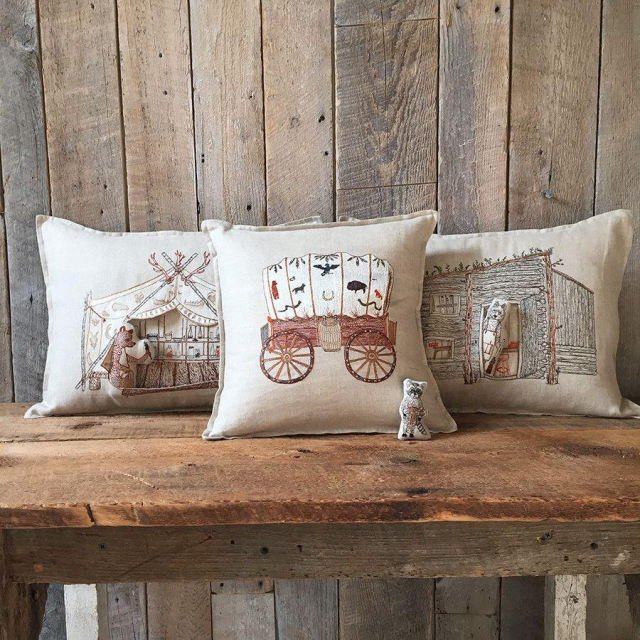 Bear Apothecary Tent Pocket Pillow (Cover Only) img5