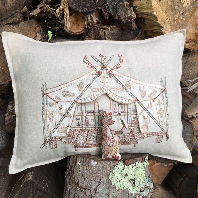 Bear Apothecary Tent Pocket Pillow (Cover Only) img6