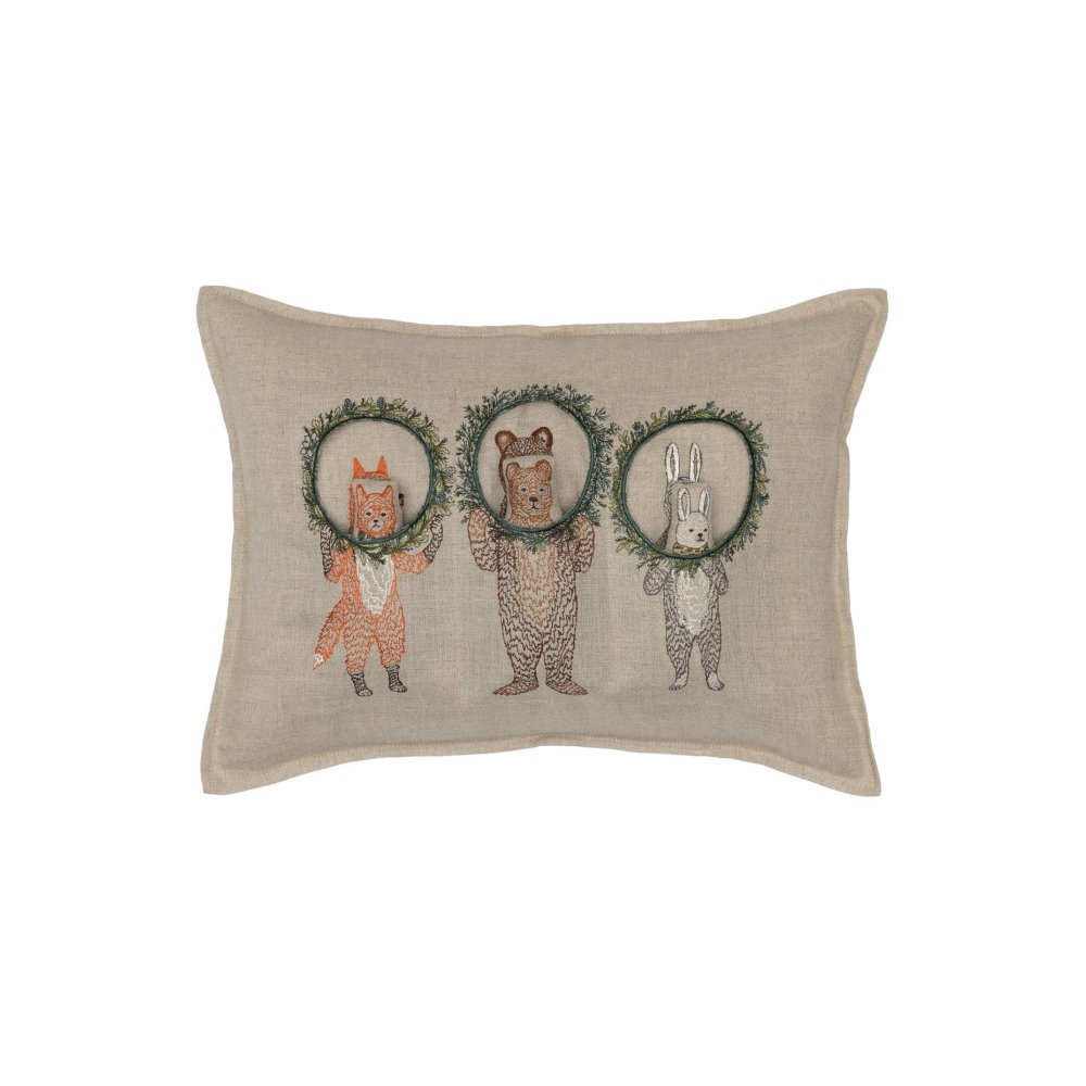 Christmas Wreath Trio Pocket Pillow (Cover Only) img