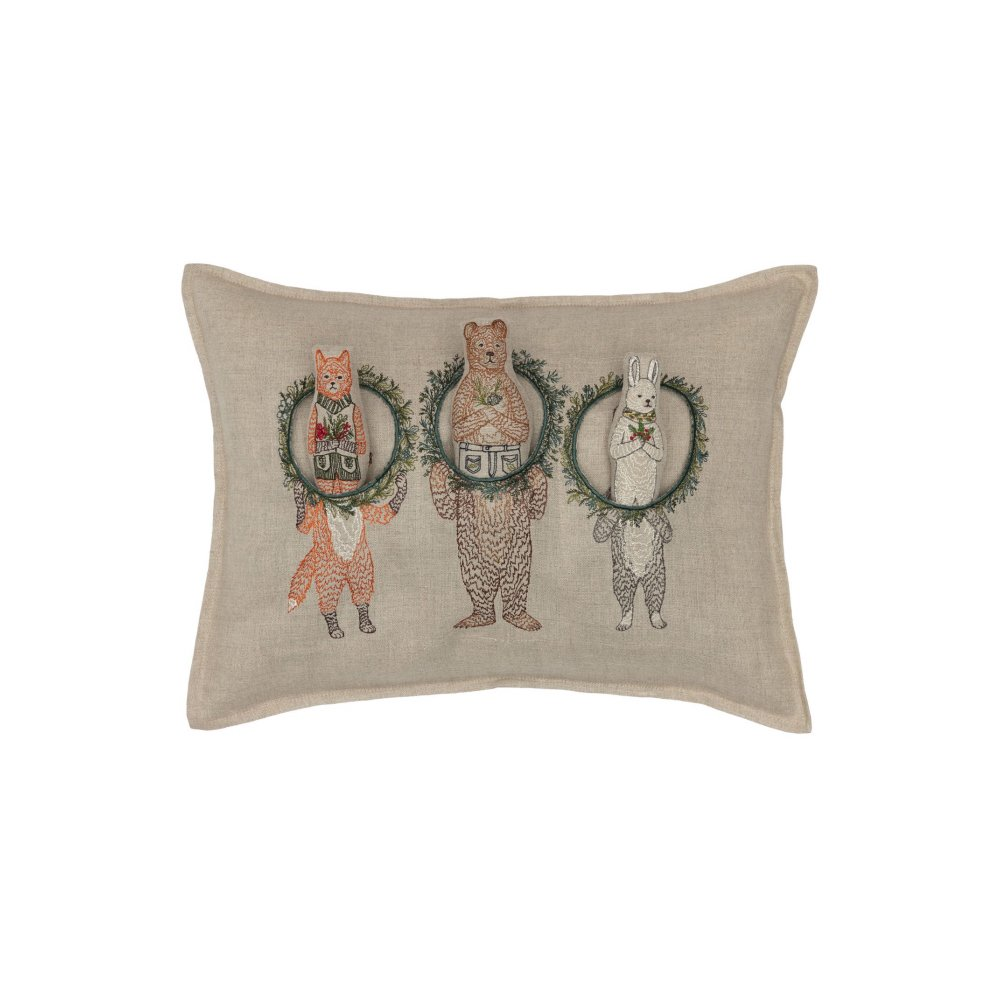 Christmas Wreath Trio Pocket Pillow (Cover Only) img1