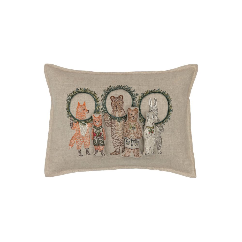 Christmas Wreath Trio Pocket Pillow (Cover Only) img2
