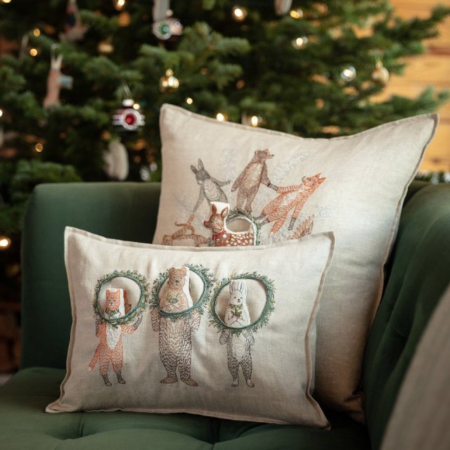 Christmas Wreath Trio Pocket Pillow (Cover Only) img7